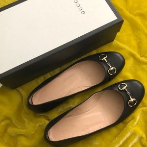 Gucci Horsebit Calfskin Ballet Flats